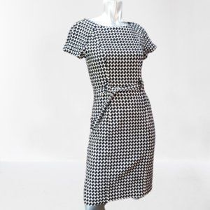 Hoss Intropia Houndstooth Pencil Dress Size 6
